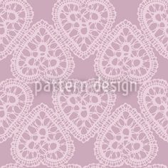 Grandmas Hearts Pale Rose by Maja Tomazic available for download as a vector file on patterndesigns.com