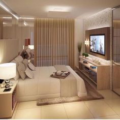 Luxury Bedroom Design, Home Room Design, Master Bedroom Design, Home Decor Bedroom, Home Interior Design, Living Room Designs, Luxurious Bedrooms, Beautiful Bedrooms, House Rooms