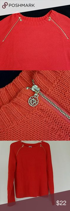 BF SALE ✴Lovely ANNE KLEIN👀 sweater w/ zippers 38-46 bust 24 length  sleeve 24 Anne Klein Sweaters