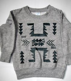 Hand Drawn Screen Printed AztecToddler TShirt by bekNcol on Etsy