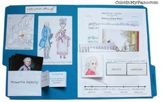 Mozart lapbook- good idea for any research project