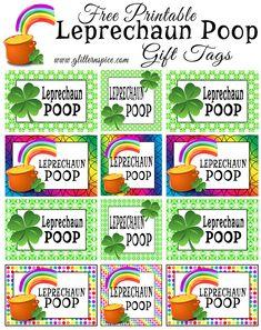 Free Printable Leprechaun Poop Gift Tags