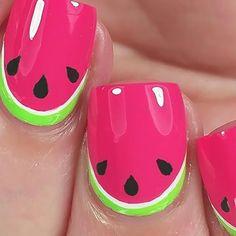 Cute #watermelon #nailart ❤❤