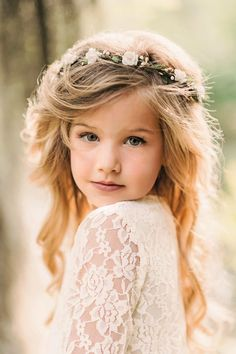 Child Flower Crown - Flower Crown Wreath - Bridal Flower Crown - Flower Girl - Communion - Engagement Photos - Style: CHARLOTTE - The most important day of your life deserves the most beautiful flower crown to go with it.