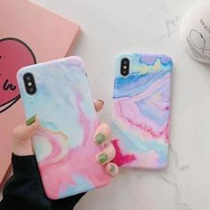LACK Watercolor Gradient Colorful Texture marble Matte soft Phone case For iPhone 7 8 Plus 6 X XS Max XR ins Back Cover Outfit Accessories From Touchy Style. Iphone 8 Plus, Iphone 6, Iphone Phone Cases, Phone Covers, Apple Iphone, Ipod Touch Cases, Bling Phone Cases, Cute Phone Cases, Diy Phone Case Design