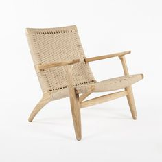 Mid Century Modern CH25 Lounge Chair Replica Inspired by Hans Wegner - natural http://www.franceandson.com/ch25-lounge-chair.html