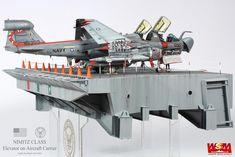 EA-6B & Elevator on Aircraft Carrier 1/48(항모 엘리베이터 1/48)