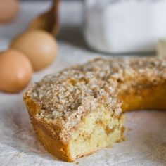 """When I think of coffee cake, I don't necessarily think of """"a cake you eat with coffee."""" To be honest, when I think of coffee cake I think of Sara Lee. On the particularly hurried fall mornings of my childhood — three sisters scrambling amongst each other to get out the door alive — that frozen red box would emerge proudly from the freezer. What was surely just the ultimate time-saver for for my parents was the edible equivalent of a super bowl ring to us kids. We were having CAKE ..."""