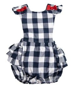 Look what I found on Navy & White Gingham Jill Romper - Infant & Toddler Jack And Jill, American Pride, Baby Boutique, Spring Trends, Big Kids, Navy And White, Gingham, Rompers, Infant Toddler