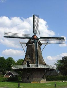 Molen de Vlijt Diever, The Netherlands Netherlands Windmills, Holland Windmills, Canal Barge, Water Mill, Water Tower, Le Moulin, Science And Nature, Places To Visit, Around The Worlds