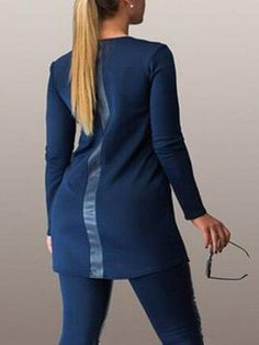 Patchwork Brilliant Round Neck Plus Size T-shirt #ClothingOnline #PlusSizeWomensClothing #CheapClothing #FashionClothing #womenswear #sexydress #womensdress #womenfashioncasual #womensfashionforwork  #fashion #womensfashionwinter