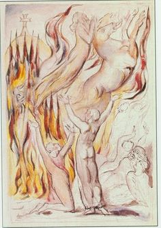 Illustrations to John Bunyan's *The Pilgrim's Progress* By William Blake:  24 Thus came Faithful to his end