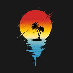 Check out this awesome 'Melting+Island' design on Graffiti Wallpaper, Neon Wallpaper, Cute Wallpaper Backgrounds, Cute Wallpapers, Vaporwave Wallpaper, Fantastic Wallpapers, Wallpaper Animes, Nature Posters, Surf Art