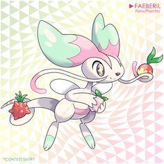 Berry Contest Entry: Faeberil by LuisBrain on DeviantArt Pokemon Show, Pokemon Fusion Art, Pokemon Fake, Pokemon Funny, Pokemon Fan Art, Cool Pokemon, Mythical Creatures Art, Cute Creatures, Steven Universe Characters