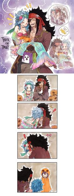 Gajeel and Levy. x3 xD