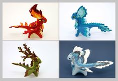 Four Elements dragons by hontor.deviantart.com on @DeviantArt