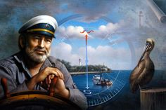 St. Simons Island Sea Captain 5 Canvas Print / Canvas Art by Yoo Choong Yeul