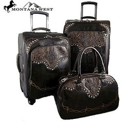 Montana West Coffee Colored 3 piece Luggage Set