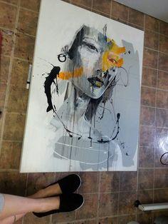 Sandy Cunningham Abstract Faces, Abstract Art, Contemporary Art, Modern Artwork, Portrait Art, Portraits, Soul Art, Art Station, Face Art