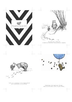 Free Winnie The Pooh project life cards
