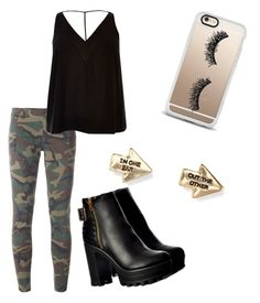 """""""Edgy khaki and black look"""" by breebree264 on Polyvore featuring Faith Connexion, River Island, Casetify and Aéropostale"""