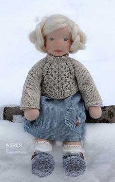 Animal Sewing Patterns, Little Cotton Rabbits, Dyi Crafts, North Coast, Waldorf Dolls, Dollhouse Dolls, Hello Dolly, Knitted Dolls, Diy Doll