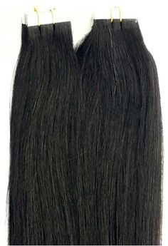 100% Human Tape In Hair Extensions #1 Jet Black. http://shop.hairfauxyou.com/Tape-In-Hair_c105.htm