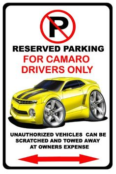 201015 Chevrolet Camaro No Parking Sign -- You can get additional details at the image link.