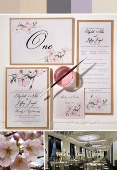 Inspirations – Pink Cherry Blossom Wedding Invitations