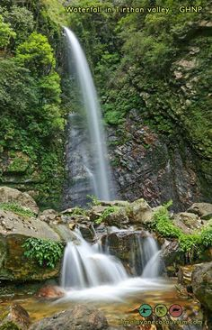 waterfall on the way to the Shilt hut Himalayan, World Heritage Sites, Trekking, Waterfall, National Parks, Explore, Places, Outdoor, Outdoors