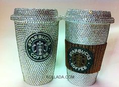 Kandi Coated Bling Coffee Tumbler Mug - Home & Office - Miscellaneous Bling