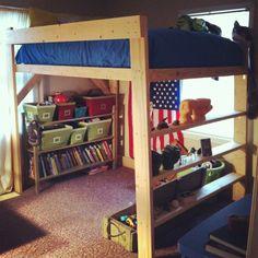 Loft bed #kidsbed #loft bed