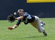 Cape center fielder Ben Ashby makes a diving attempt for the ball in the 13-8 loss to the Newark National team in the second game of the state championship. Click http://capegazette.villagesoup.com/p/cape-junior-league-all-stars-fall-twice-to-newark-national-in-state-tournament/1217881 to read baseball article: Cape Junior League All Stars fall twice to Newark National in state tournament by Dan Cook