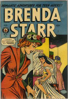 Comic Book Cover For Brenda Starr Comics v2 #10  1949