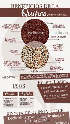 Beneficios y propiedades de la Quinoa #vidasana #comerbien #alimentos #salud