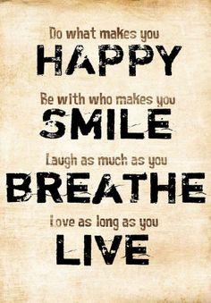Do what makes you HAPPY // art print. #design_inspiration