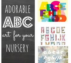 Adorable ABC Art For Your Nursery