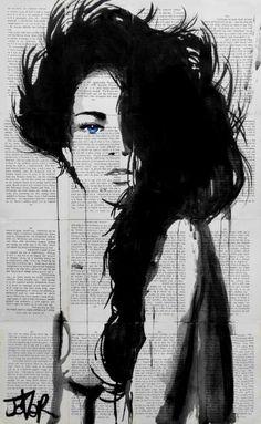 "Saatchi Art Artist Loui Jover; Drawing, ""spring tide"" #art"