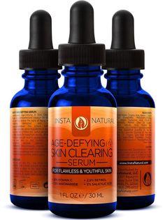 Instanatural Age-Defying & Skin Clearing Serum - tea tree, vitamin c, salicylic acid, retinol and more!