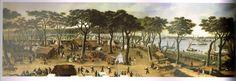 Campamento en Curuzú, 1866. Pintura de Cándido López, el soldado pintor