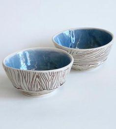 Wood Grain Porcelain Bowl