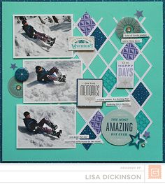 Most Amazing Day Ever #layout by Lisa Dickinson #scrapbook #BasicGrey