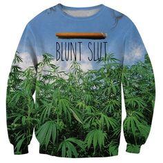 Women Men Blunt Slut v2 Sweatshirt Weed Leaf 3d Pull Sweats Fashion Clothing Jumper Tops Coat Hoodies Plus Size 5XL