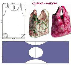 Как сшить пляжную сумку пакет своими руками - выкройка