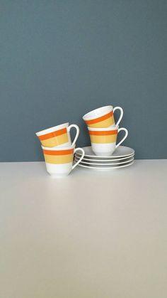 Espresso cup and saucer set vintage cups, Bavarian Espresso cups