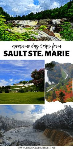 Travelling to Sault Ste Marie? Here are 5 awesome day trips from Sault Ste Marie Ontario, from epic train trips to amazing parks. Sault Ste Marie Ontario, Sault Ste Marie Michigan, Usa Travel, Globe Travel, Travel Info, Travel Guides, Alberta Canada, Vancouver, Places To Travel