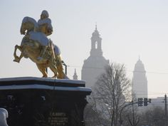The Golden Rider- Neustadt- my 'hood in Dresden, Germany