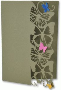 Silhouette Design Store - View Design #79390: butterfly edge card