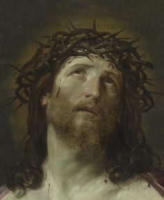 Guido Reni - Pintor - Religioso - Italiano - - Head Of Christ Crowned With Thorns Jesus Christ Painting, Christ Tattoo, Lady Of Mount Carmel, Jesus Wallpaper, Pictures Of Christ, Religion Catolica, Biblical Art, Peter Paul Rubens, Crown Of Thorns