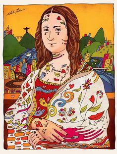 """""""La Mia Gioconda"""", criação de Kleber Nakamura."""